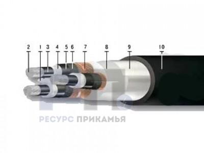 АПвВнг(В)-LS, 10 кВ (трехжильный)