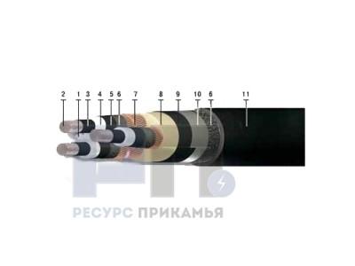 АПвБП, 10 кВ (трехжильный)